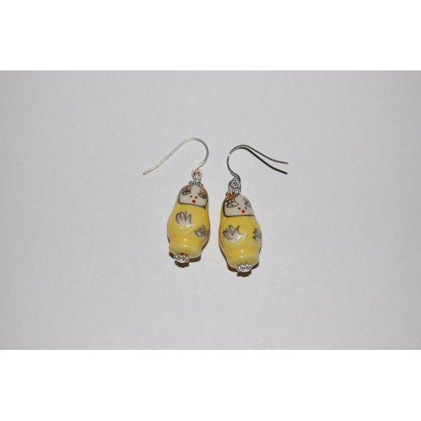 BABUSHKA øreringe gul