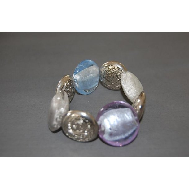smykke CANDY blue armbånd - nemt med elastik