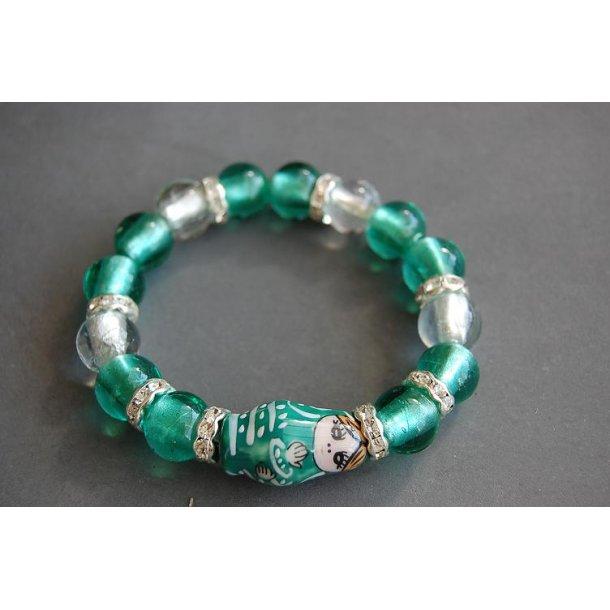 BABUSHKA - armbånd grøn